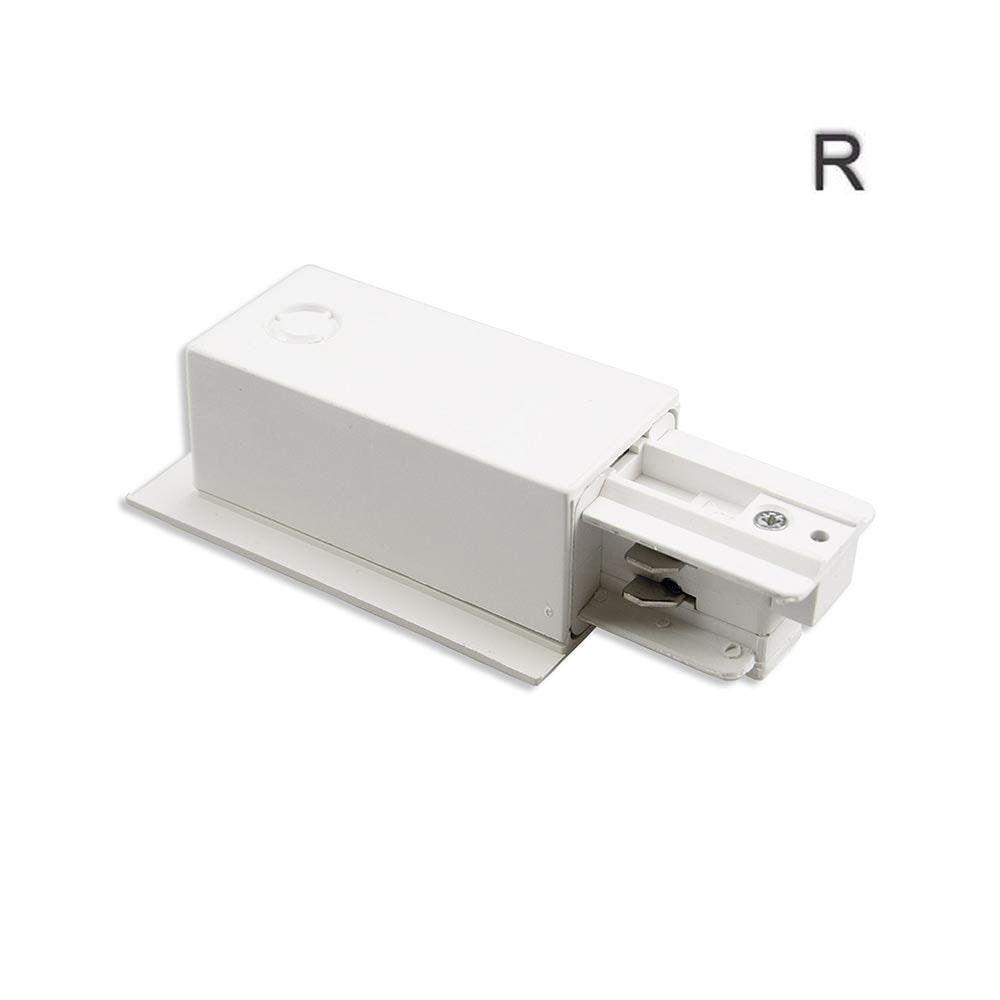 3-Phasen Einbau Seiten-Einspeisung Schutzleiter rechts Weiß
