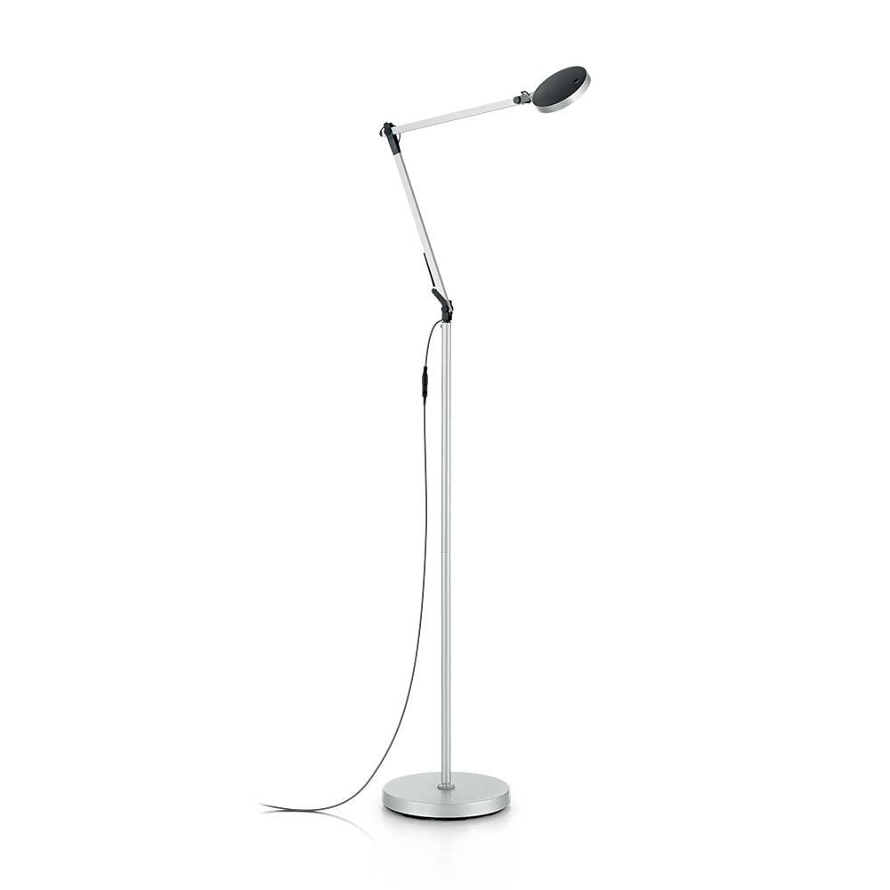 Ideal Lux LED Stehleuchte Futura Aluminium
