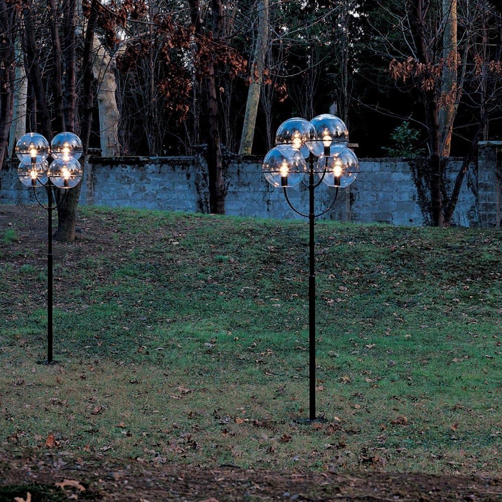 Oluce Aussen-Laterne Stehlampe Lyndon 300 Schwarz