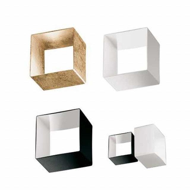Panzeri Domino Wandleuchte mit Glaswürfel 2
