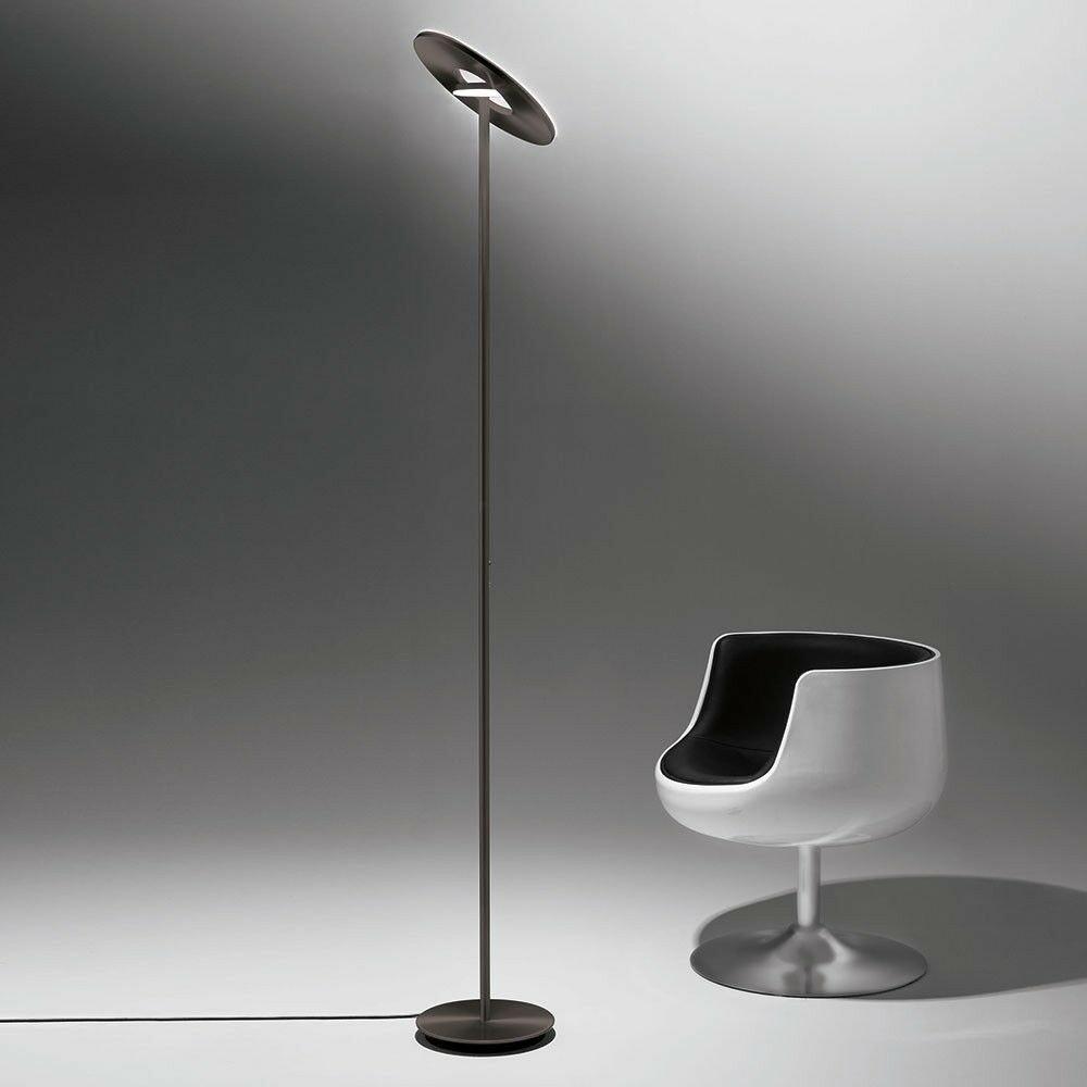 Holtkötter LED-Deckenfluter NOVA Alu-Matt Tastdimmer 7700+2200lm 2700K 2
