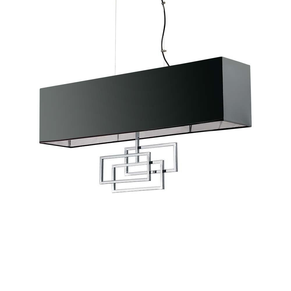 Ideal Lux Hängelampe Luxury 6-flg. Chrom, Schwarz