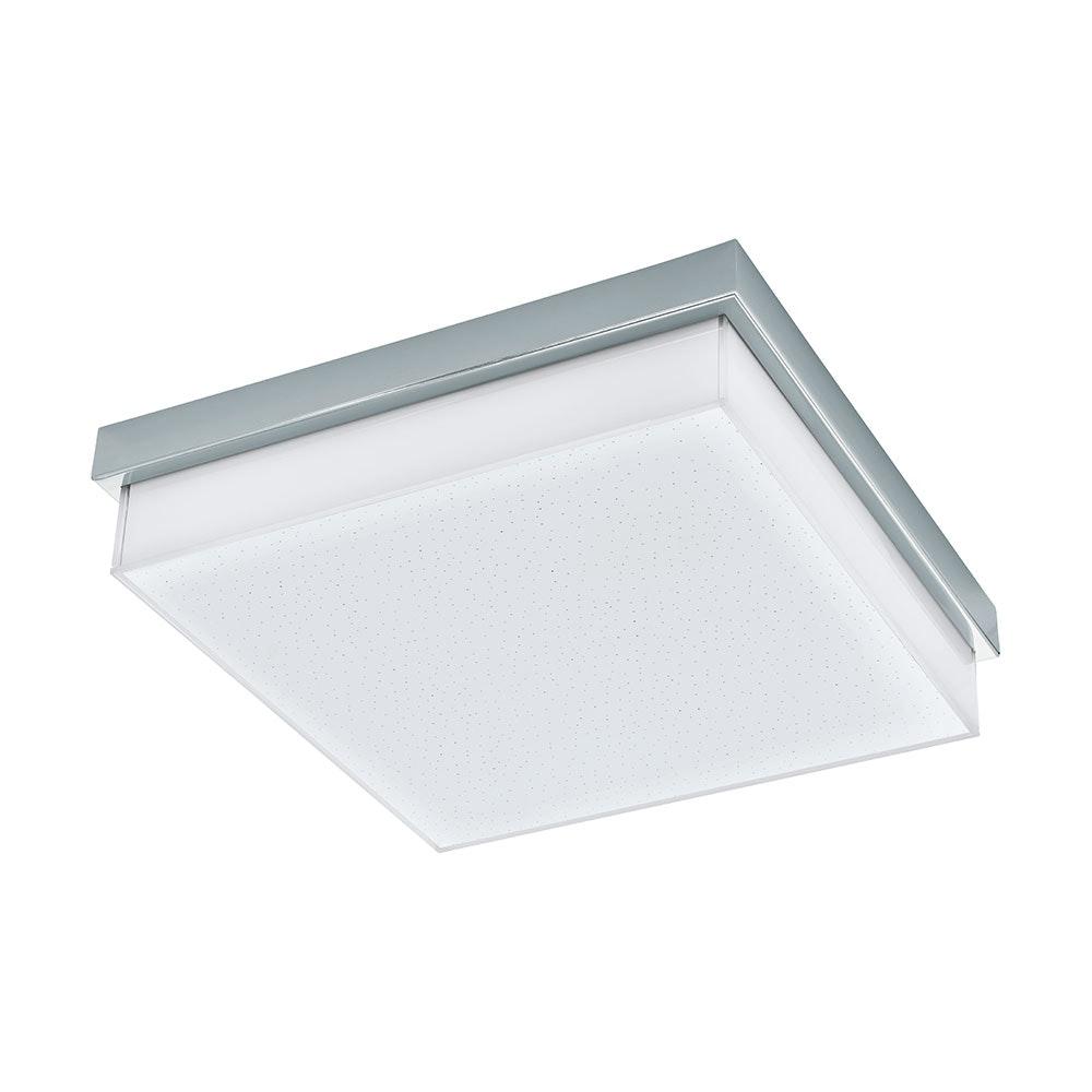 LED Wand- & Deckenleuchte Isletas IP44 Kristalleffekt Chrom, Weiß