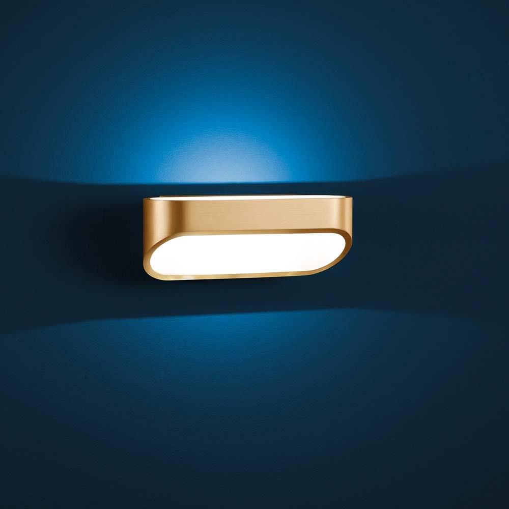Helestra LED Wandlampe Onno Messing, Weiß