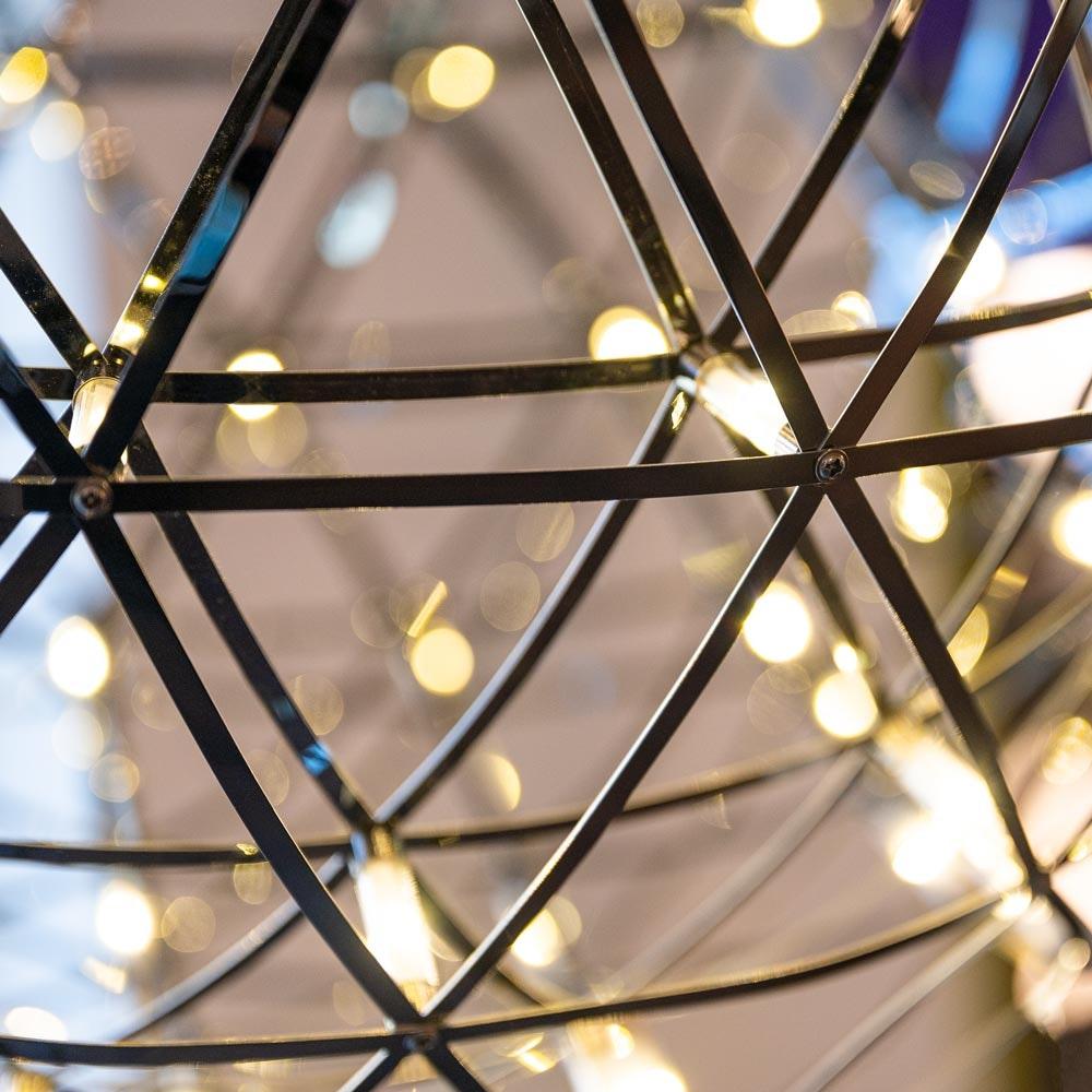 s.LUCE pro Atom 70 dimmbare LED-Pendelleuchte Metallkugel 12