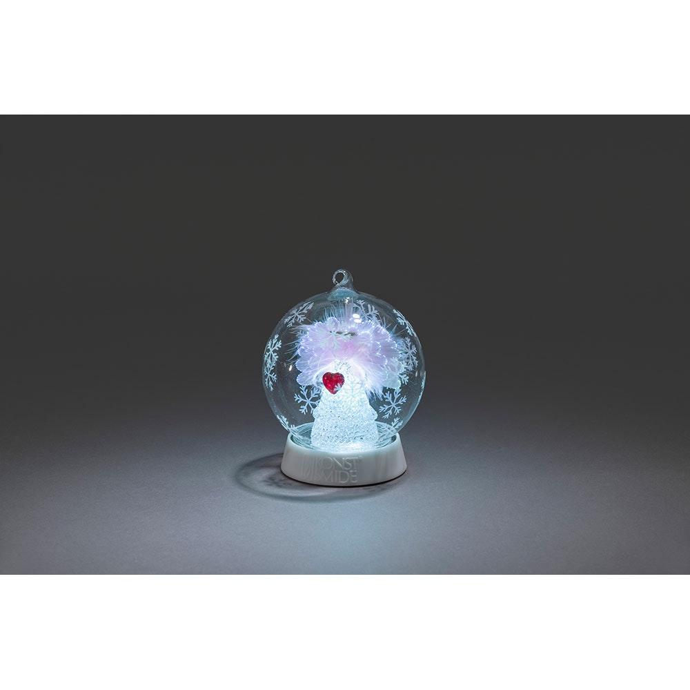Glaskugel Engel mit 3 Funktionen Timer RGB-Farbwechsel 1 RGB Diode batteriebetrieben 7