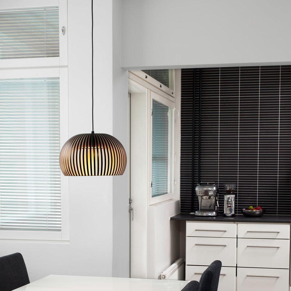 LED Pendelleuchte Atto 5000 aus Holz Ø 34cm 4