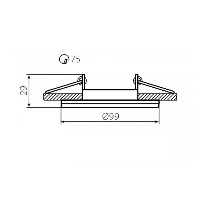 Einbaustrahler Cloy schwenkbar Weiß 230V 2