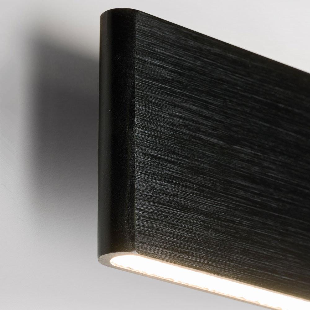 Slim LED-Wandleuchte Up&Down 540lm Schwarz eloxiert 6
