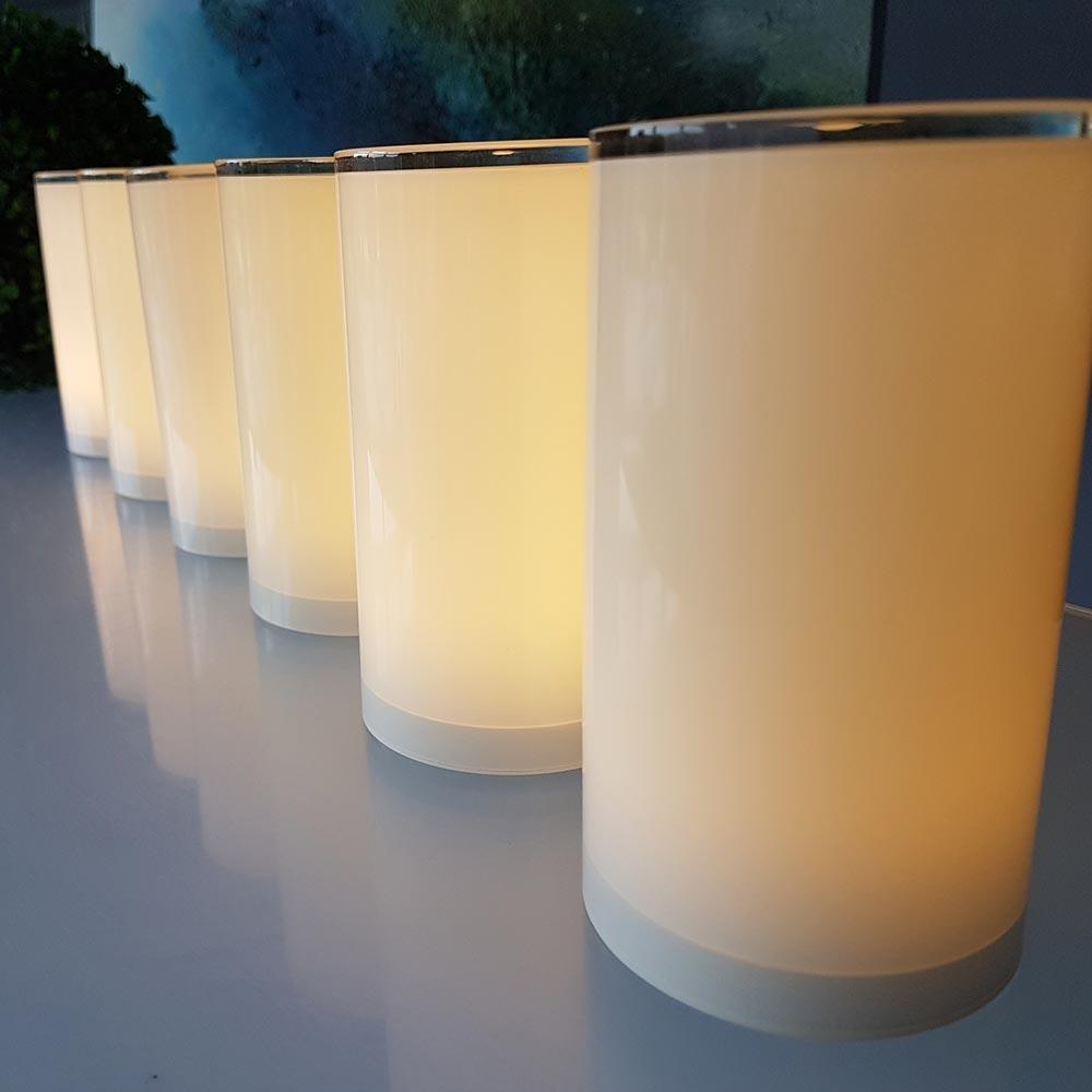 6er Set Akku-LED-Tischlampen Tub mit App-Steuerung 4