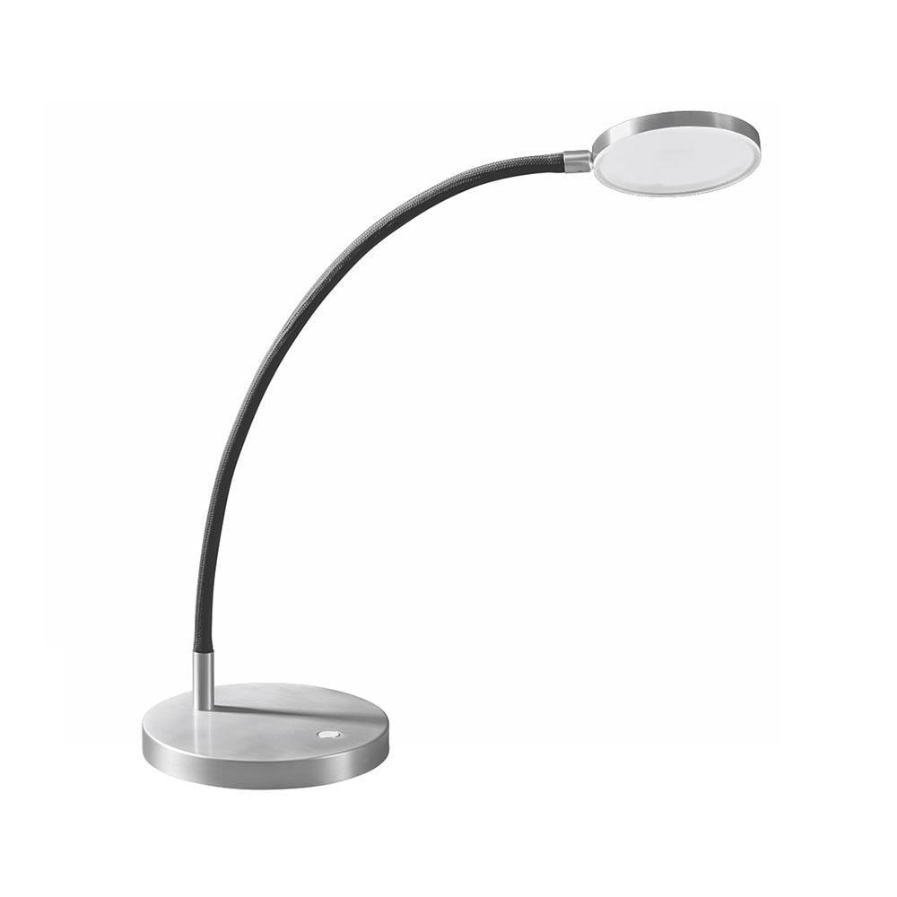 Holtkötter LED-Tischleuchte FLEX T Alu-Matt, Grau mit Tastdimmer 2200lm 2700K