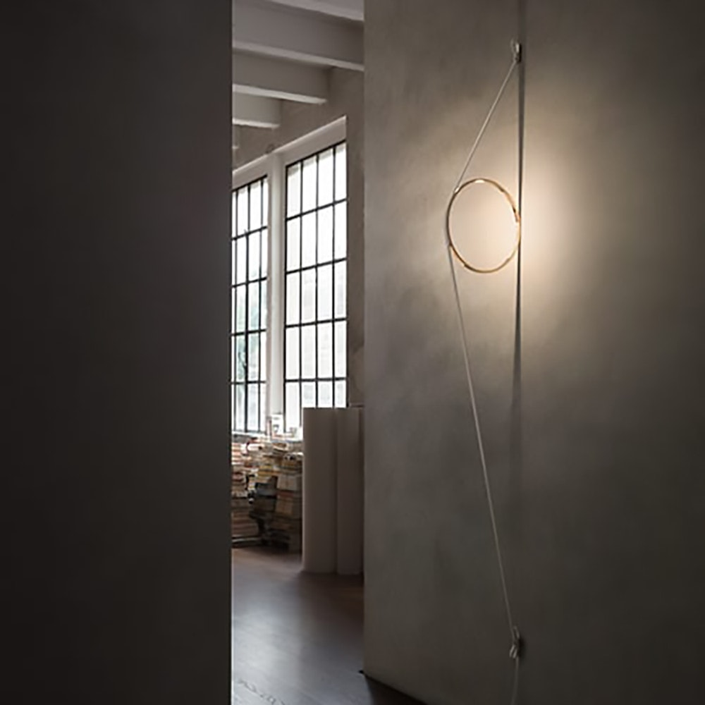 FLOS Wirering LED Wandleuchte mit Ring