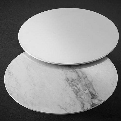 Studio Italia Design Puzzle Mega Round Ø 80cm Wand- & Deckenlampe Marmor thumbnail 5