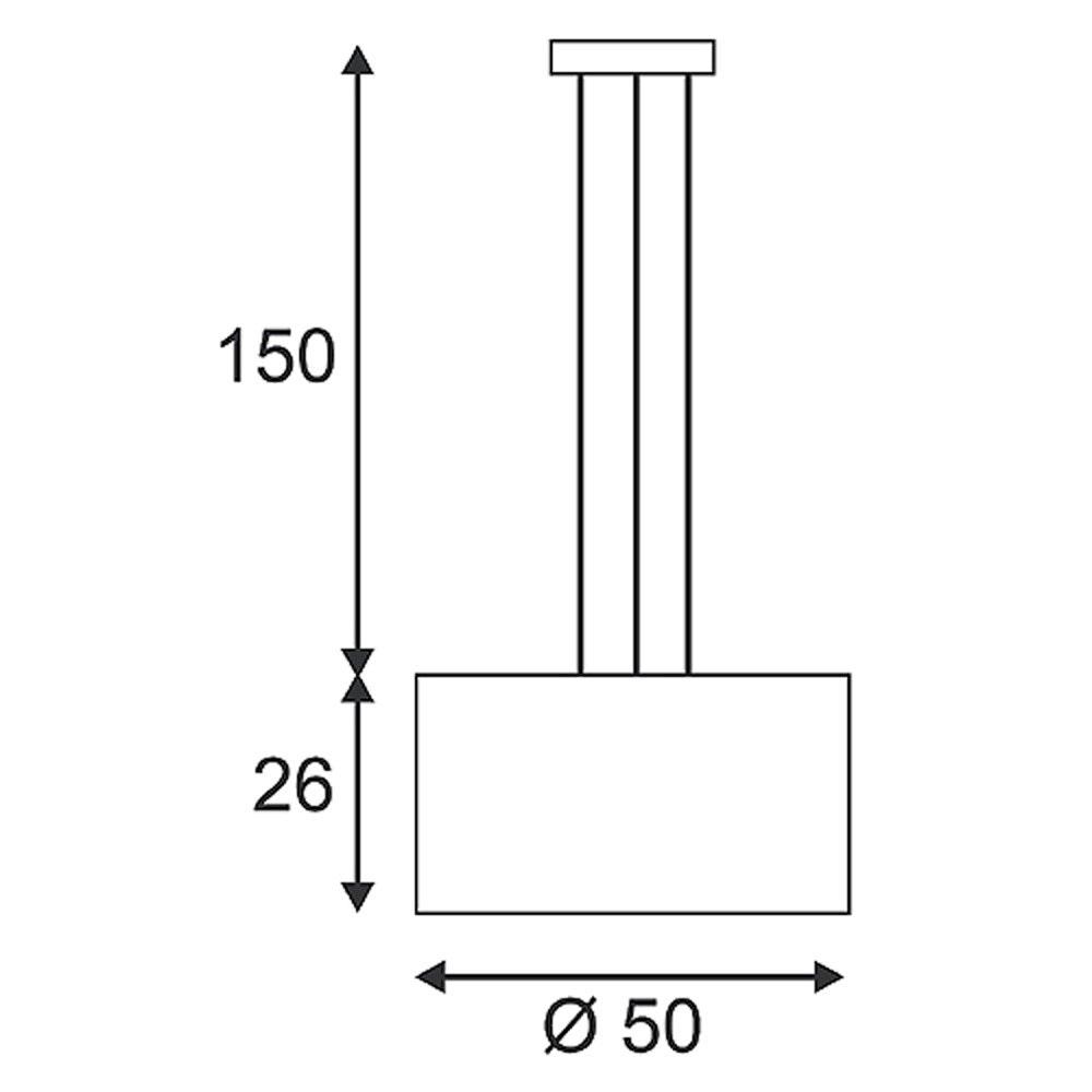 SLV Soprana Pendelleuchte PD-2 rund cremeweisses Textil 3xE27 max. 3x60W 2