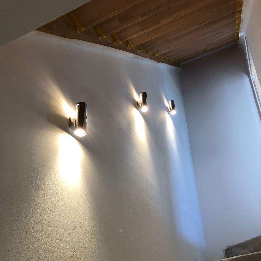 s.LUCE Wings Wandleuchte mit Wow-Lichteffekt Chrom 4