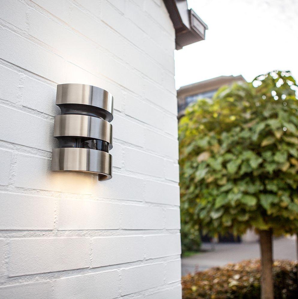 LED Außenleuchte Maya IP44 Edelstahl mit Bewegungsmelder 1