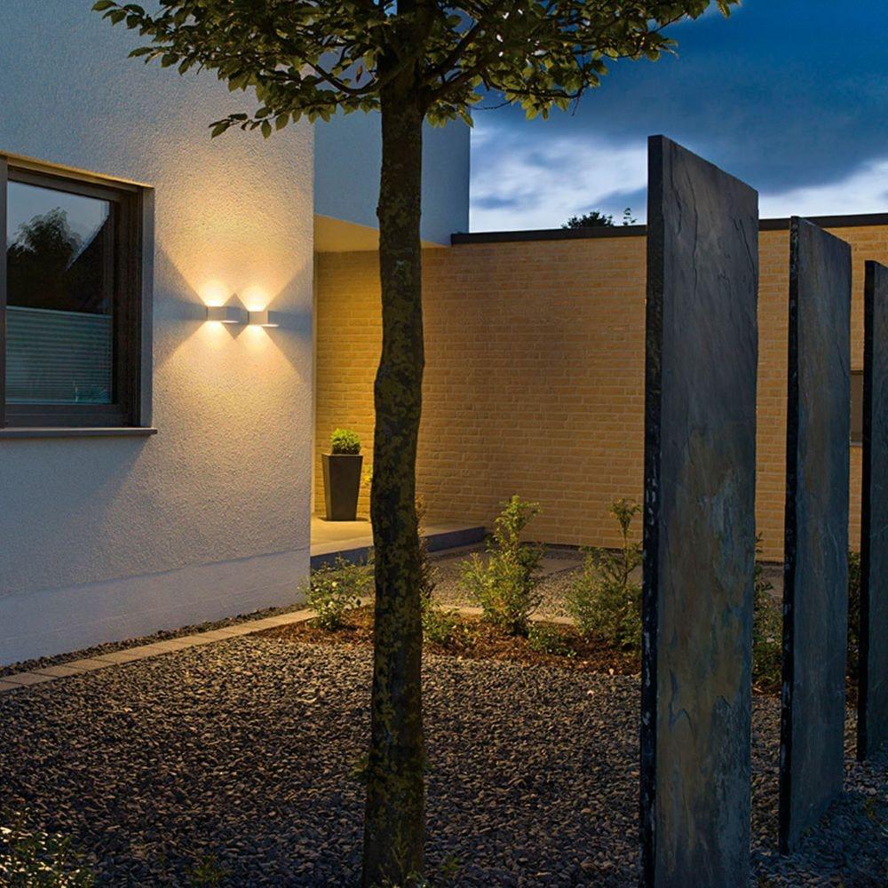 SLV LOGS Wall Wandleuchte eckig weiss 6W LED Warmweiß 2