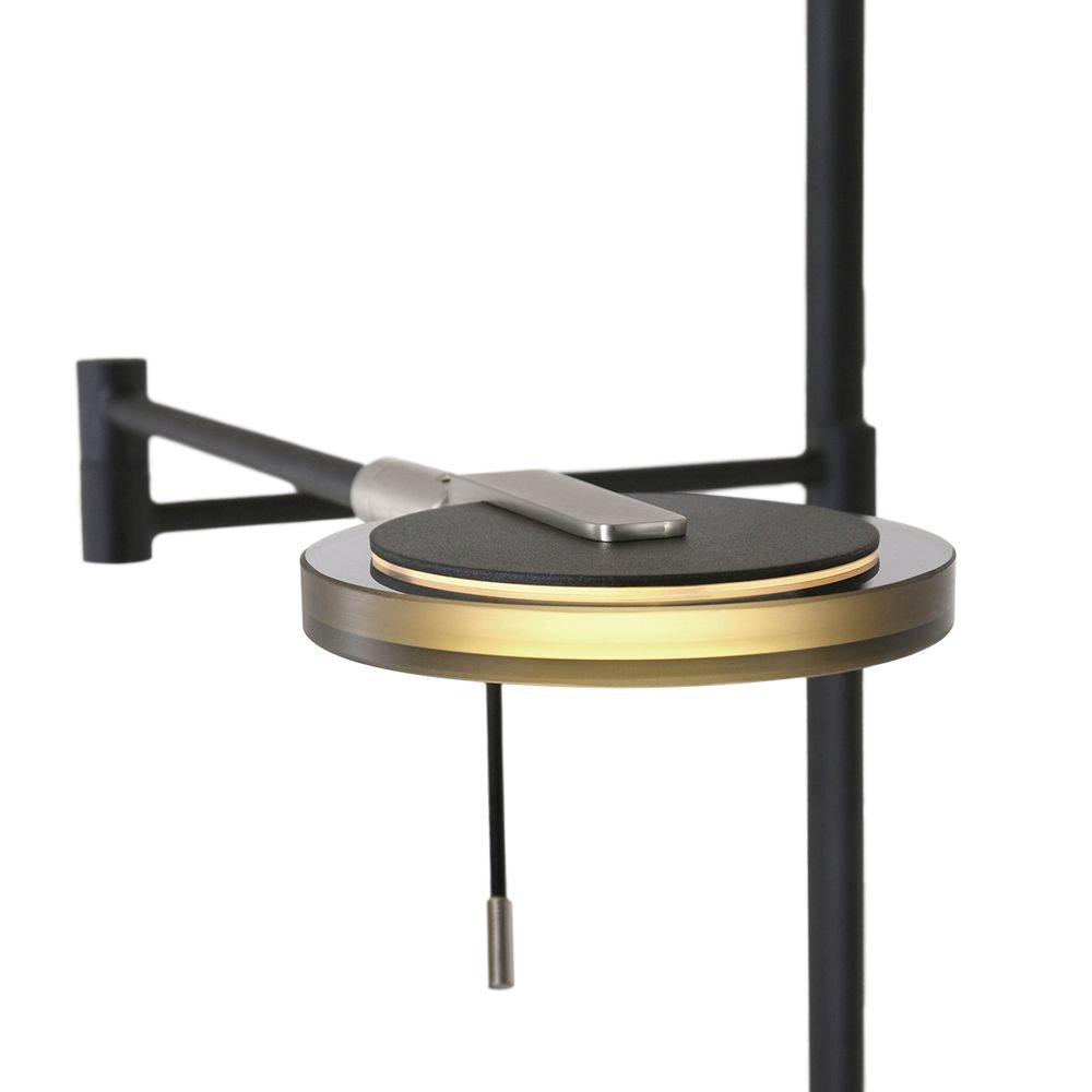 Steinhauer LED-Deckenfluter Turound LED mit Lesearm Tastdimmer 2700K 12