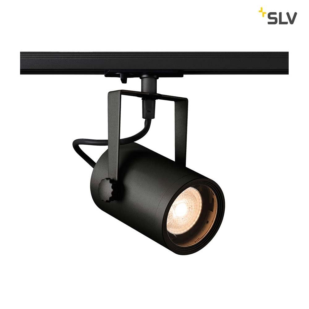 SLV Euro Spot Track Schwarz QPAR51 inkl. 1P.-Adapter 1