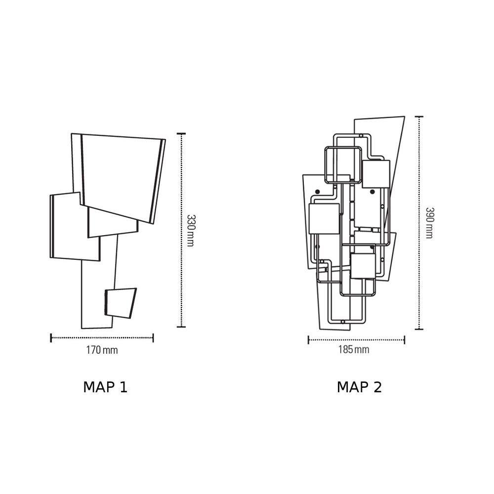 DCW Map 1 Wandleuchte geometrisch thumbnail 5