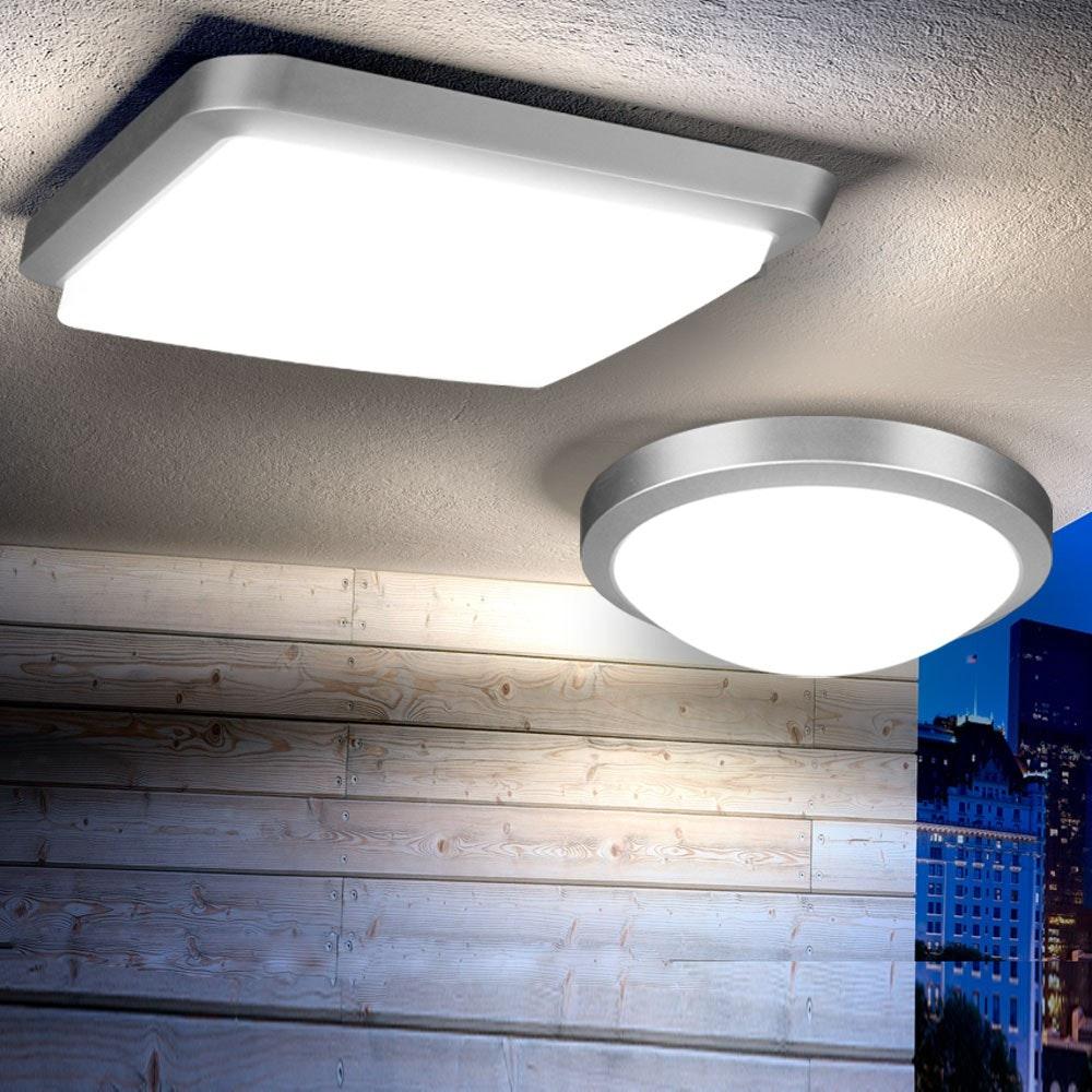 Acca LED-Deckenleuchte für Innen und Aussen Ø 27cm thumbnail 3