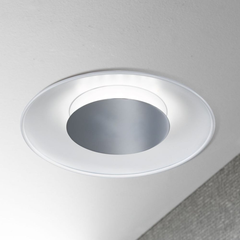 Rondo LED-Deckenleuchte Ø 30cm Chrom