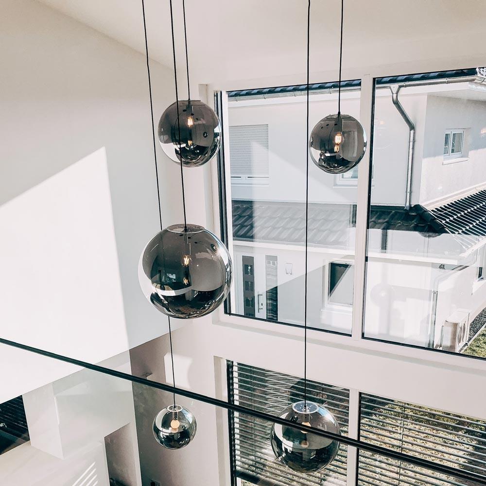 s.LUCE Orb Glaskugel Galerieleuchte 5m Abhängung 8