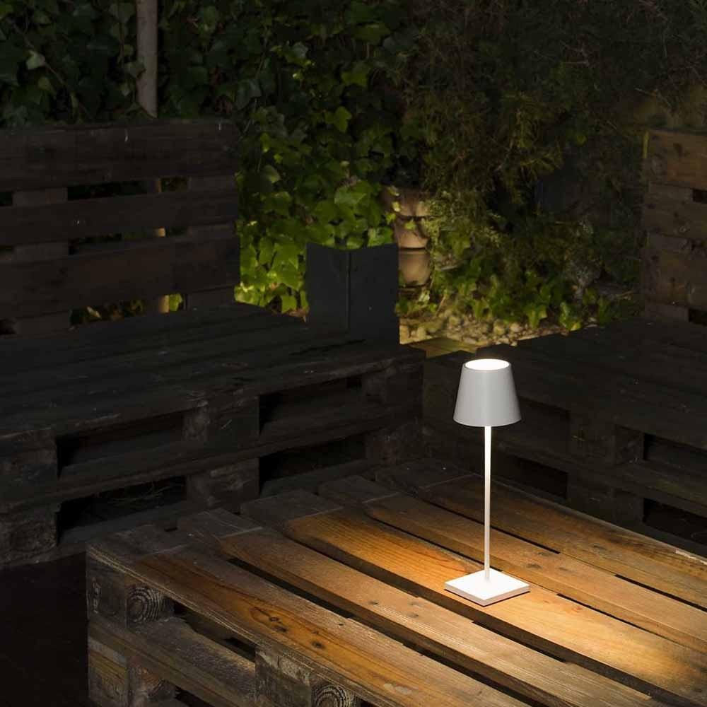 LED Außen Akku-Tischlampe Qutarg Easy-Connect IP54 5