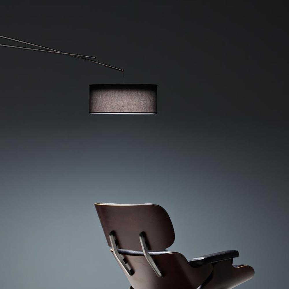 Prandina Stehleuchte mit Textilschirm Effimera F50 Schwarz 2