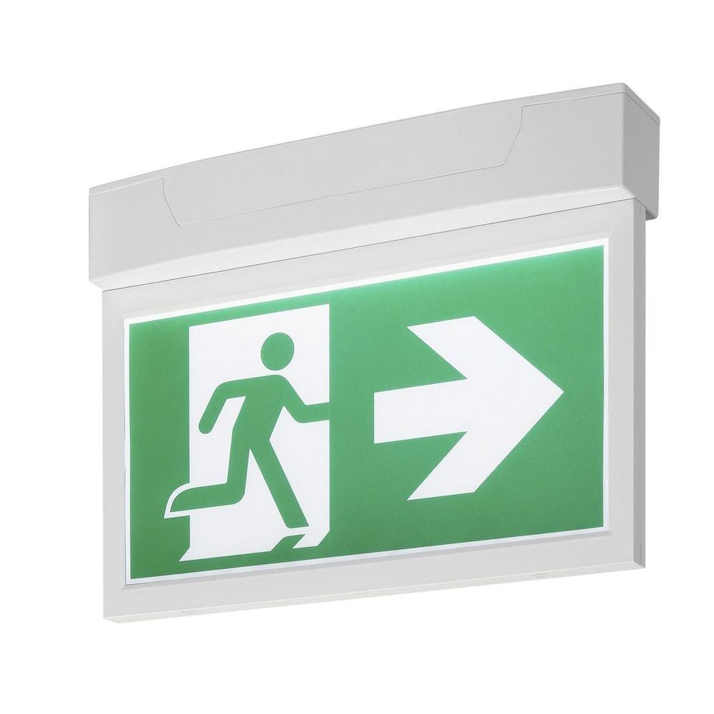 SLV P-Light Emergency Exit Sign Big Ceiling wall Weiß