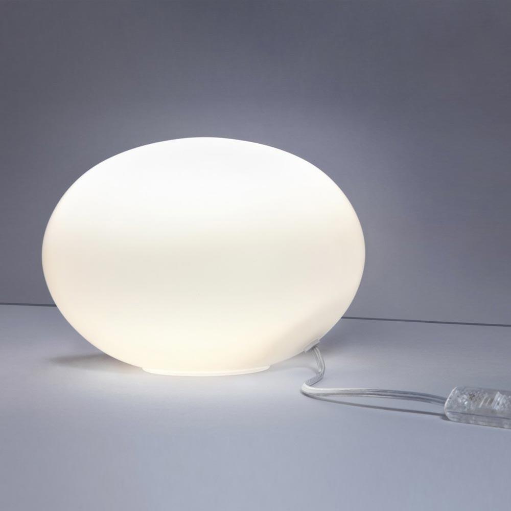 s.LUCE Sitter S Opalglas Tischleuchte Ø 20cm Weiß