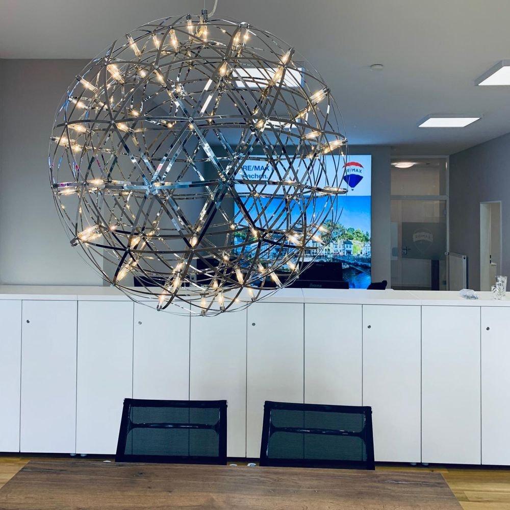 s.LUCE pro Atom 70 dimmbare LED-Pendelleuchte Metallkugel 15