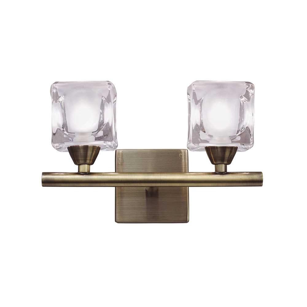 Mantra Doppel-Wandlampe Cuadrax Cristal 2