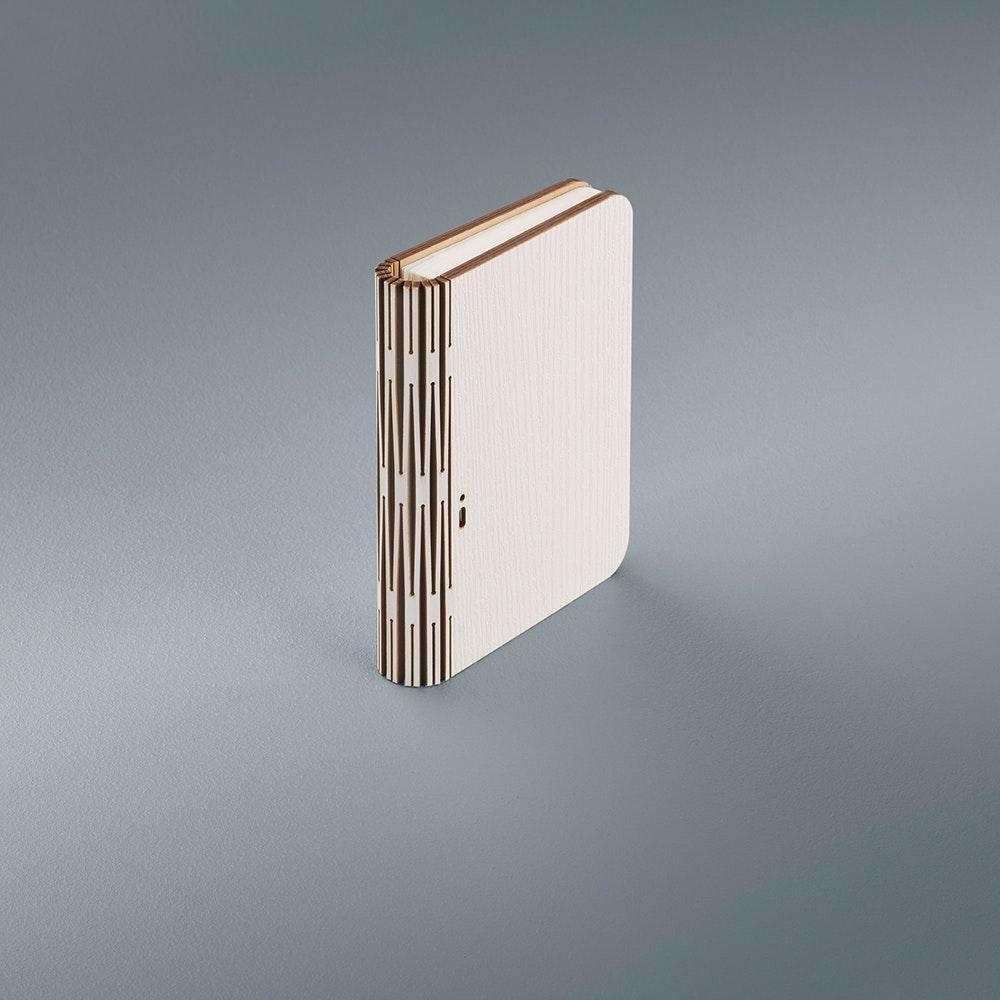 Helestra LED Tischleuchte Memo Holzstruktur Weiß 3