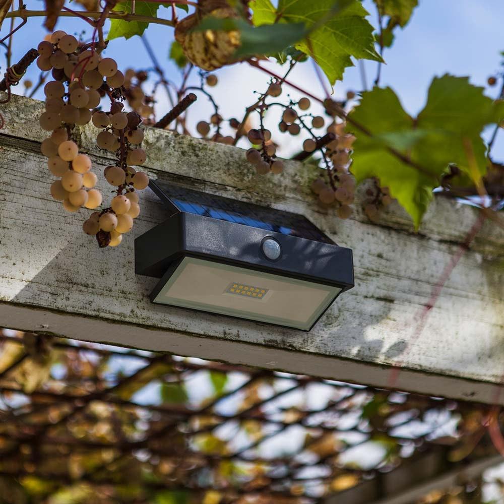 LED-Wandleuchte Arrow mit Solarpanel und Bewegungsmelder 3