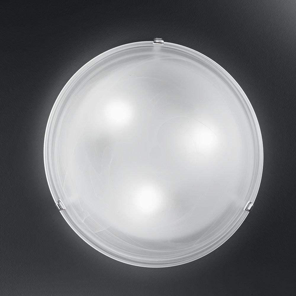 Salome Wand- & Deckenleuchte Ø 30cm Weiß, Chrom 1