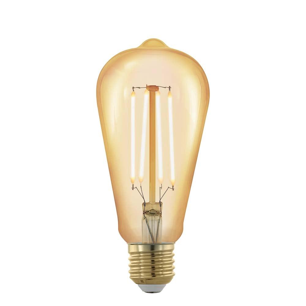 E27 Retro LED Kolbenform 4W, 320lm 1700K Amber 1