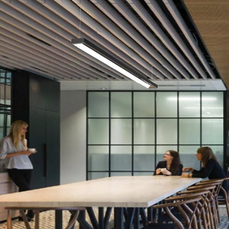 Büro LED Pendel-Schreibtischleuchte 3600lm Schwarz ColorSwitch 3000|4000|5700K thumbnail 3