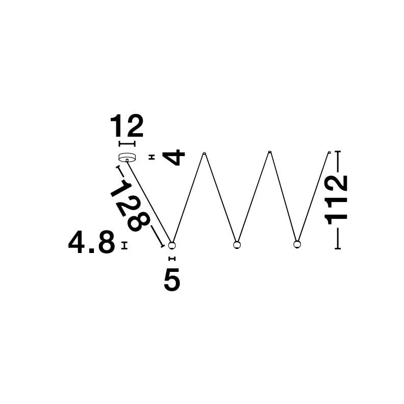 Nocci LED-Hängelampe 3-flammig Schwarz 5