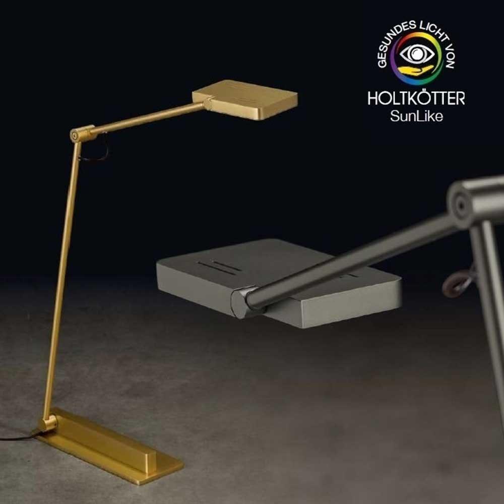 Holtkötter LED-Leseleuchte CLEA S Platin mit Tastdimmer 1200lm SunLike 7
