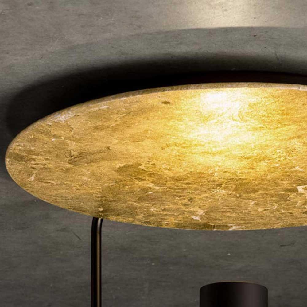 Reflektorplatte für Disc Deckenleuchte Blattgold