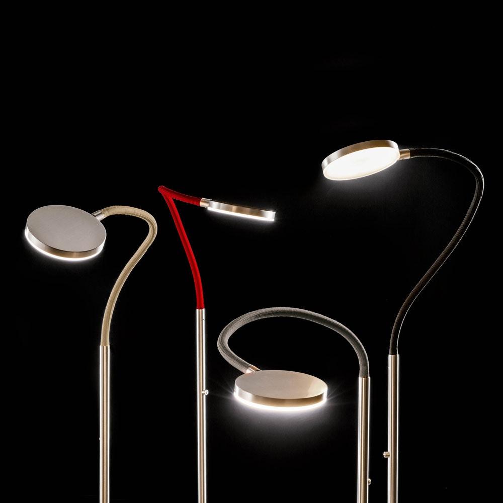Flex S LED-Stehleuchte mit Tastdimmer 2000lm Gold, Schwarz 2