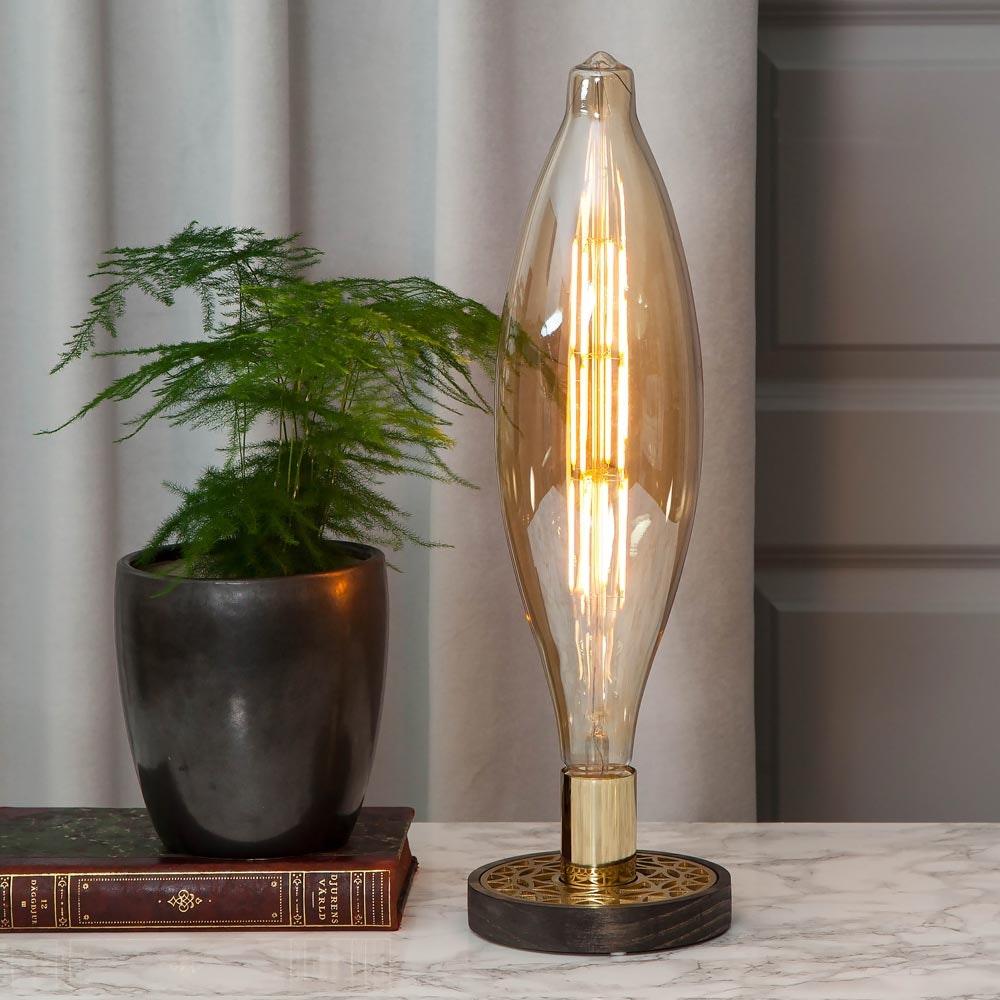 E27 Vintage LED 44cm Zapfen Dimmbar 800lm Extra Warmweiß 1