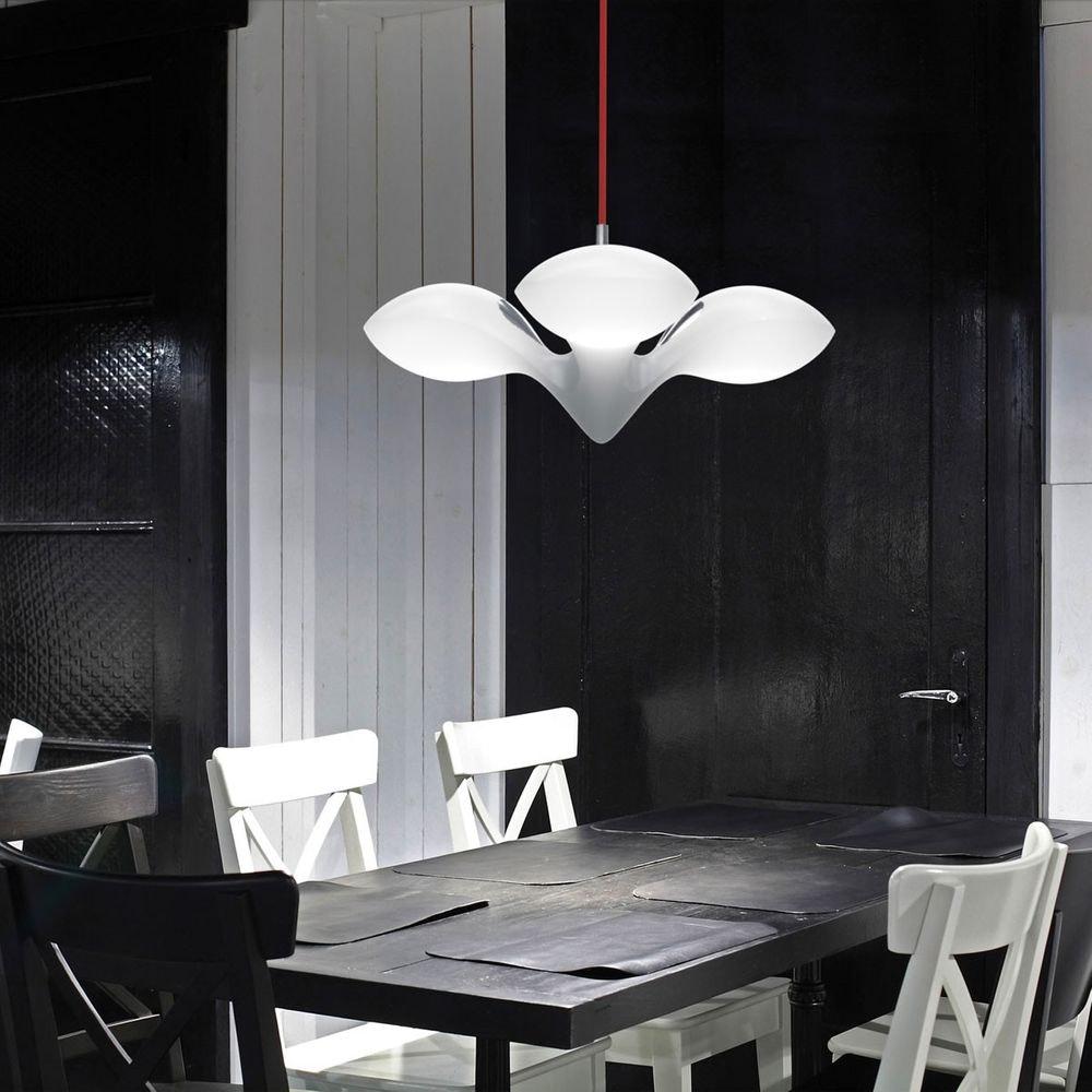 LED Hängeleuchte Enterprise 3-flammig Chrom, Holz, Weiß 5