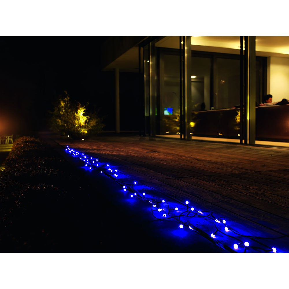 LED Globelichterkette runde Dioden 80 purpurfarbene Dioden IP44 4
