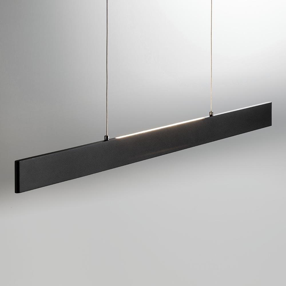 Slim LED-Hängeleuchte dimmbar 3040lm Up&Down Schwarz 2