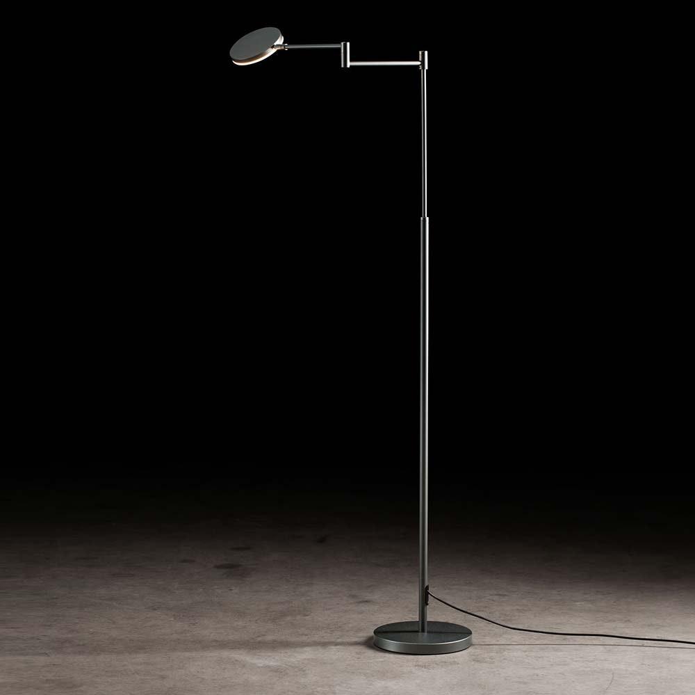Plano B LED-Stehleuchte 140cm mit Tastdimmer 2000lm Platin 2
