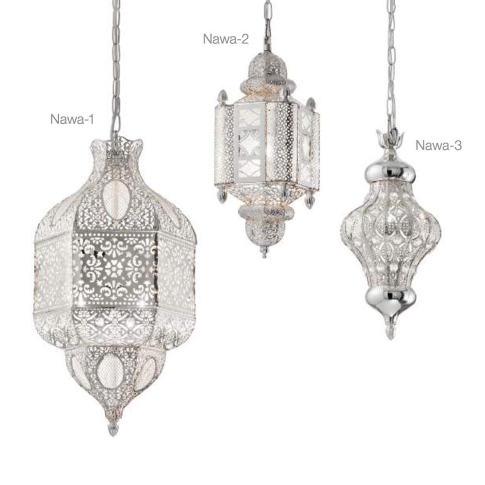 Nawa orientalische Hängeleuchte Ø 41cm Silber 3