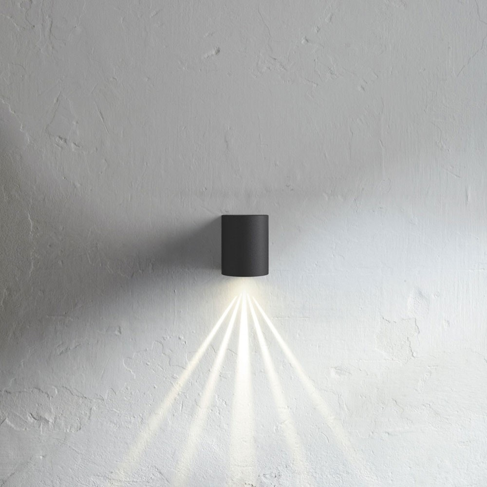 Baleno LED-Wandleuchte IP44 mit Lichtfilter Schwarz 2