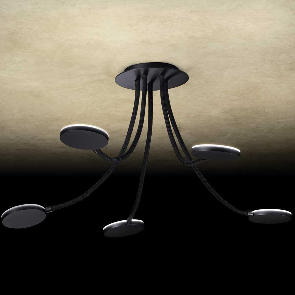 Holtkötter LED-Deckenlampe Flex D5 Dimmbar Schwarz 1